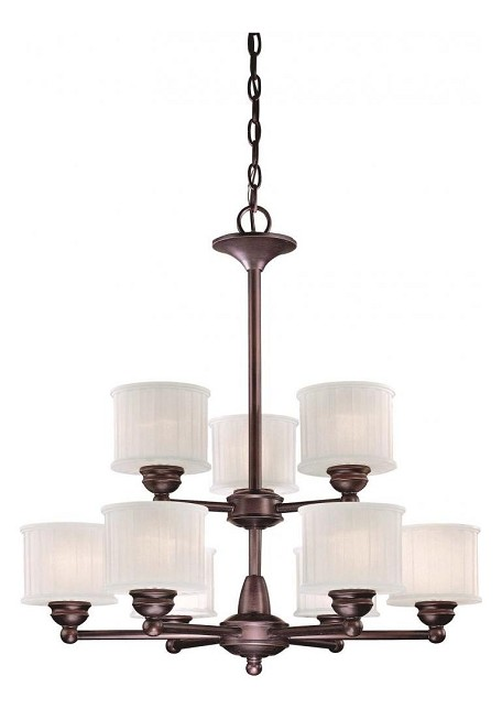 Lathan Bronze 9 Light 2 Tier Chandelier From The 1730 Series Collection