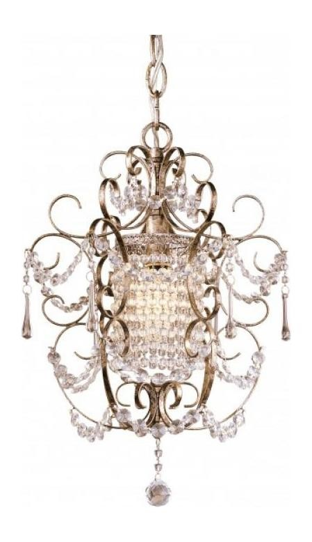 Westport Silver 1 Light 1 Tier Crystal Chandelier From The Mini Chandeliers Collection