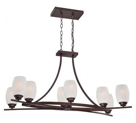 Dark Brushed Bronze 8 Light 1 Tier Chandelier From The City Club Collection
