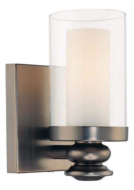 Harvard Ct. Bronze 1 Light Ada Compliant Bathroom Sconce From The Harvard Ct. Collection