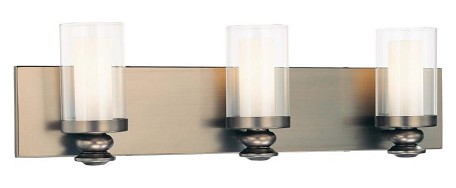 Harvard Ct. Bronze 3 Light Ada Compliant Bathroom Vanity Light From The Harvard Ct. Collection