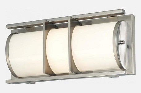 Brushed Nickel 1 Light Ada Compliant Bathroom Vanity Light From The Archcrest Collection