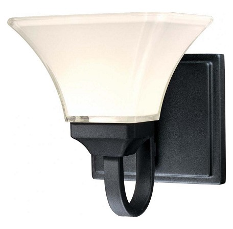 Black 1 Light Bathroom Sconce From The Agilis Collection
