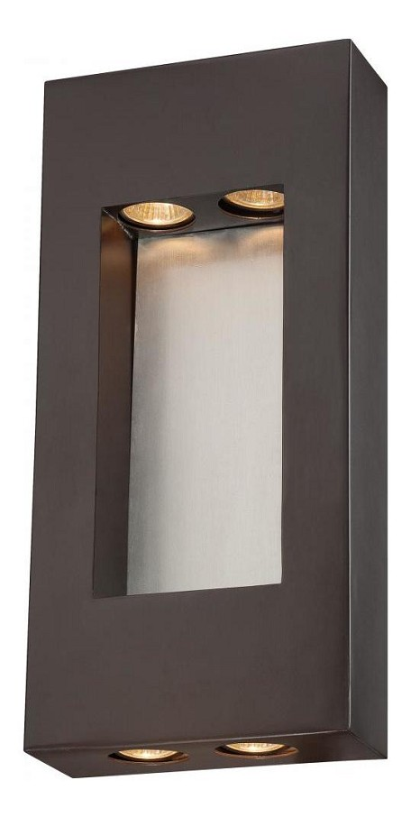 4 Lights Outdoor Wall Sconce With Bronze Finish