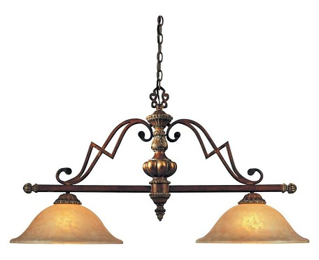 Belcaro Walnut 2 Light 1 Tier Linear Chandelier From The Belcaro Collection