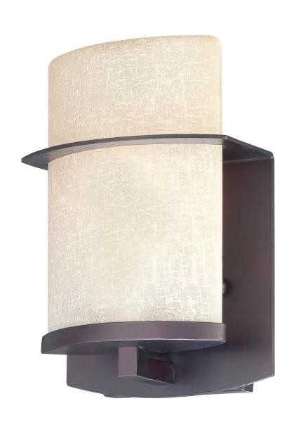 1 Light Outdoor Wall Light With Kinston Bronze Finish