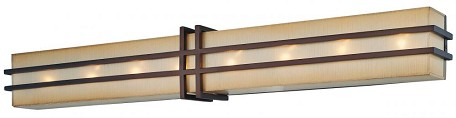 Cimarron Bronze 8 Light 37In. Width Ada Compliant Bathroom Vanity Light From The Underscore Collection