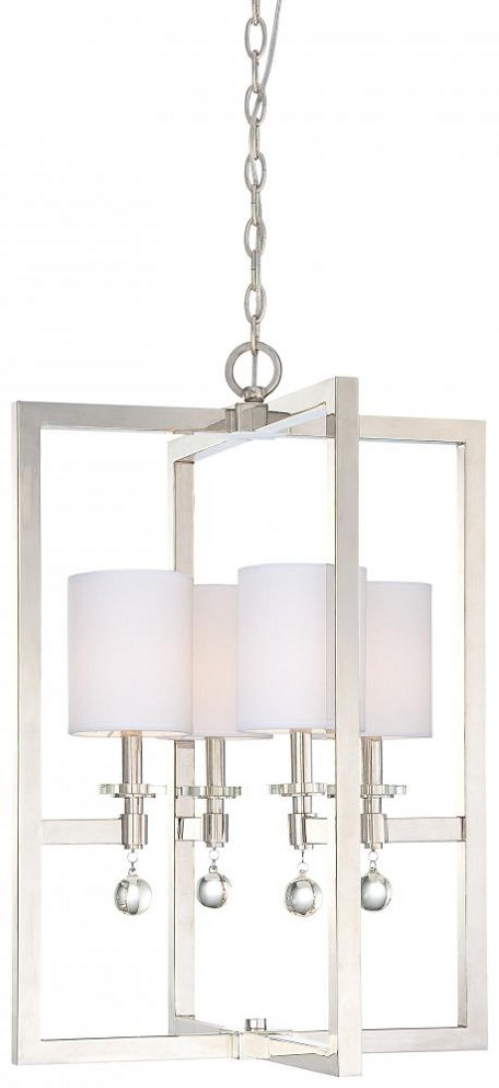 Polished Nickel 4 Light Full Sized Pendant From The Chadbourne Collection
