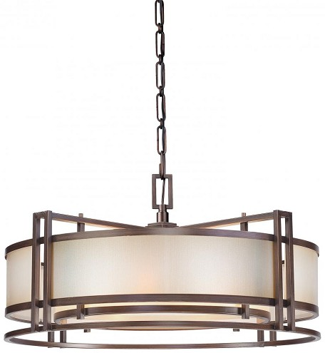 Cimarron Bronze 4 Light Drum Pendant From The Underscore Collection