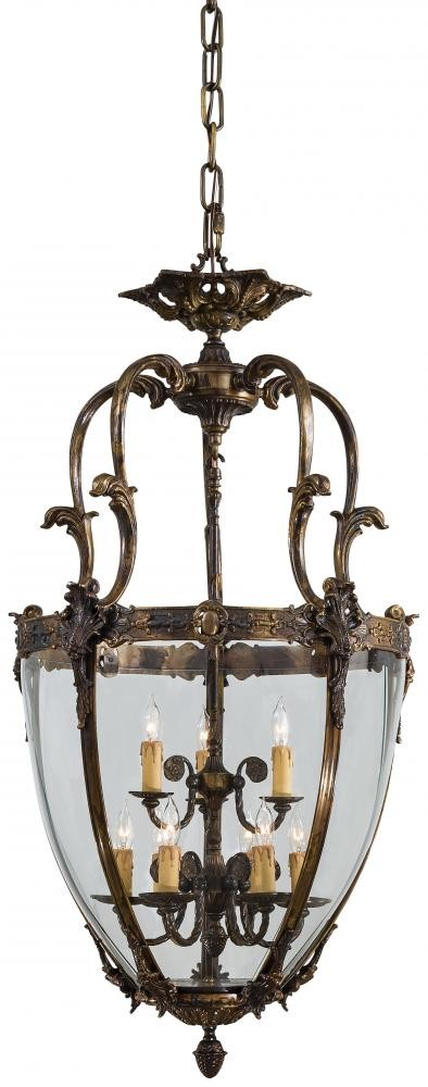 Antique Bronze 9 Light Lantern Pendant From The Foyer Collection