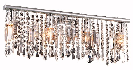 Crystal Fusion Design 4 Light 24'' Wall Sconce with European Crystals SKU# 85002