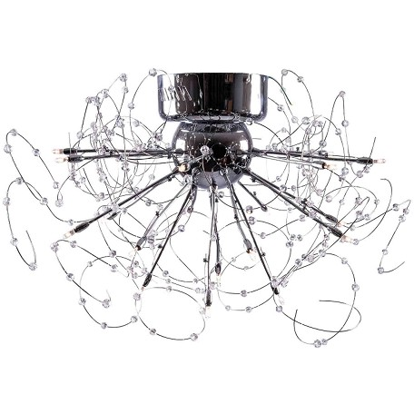 "Medusa Design 20-Light 29"" Polished Chrome Crystal Flush Mount Ceiling Fixture SKU* 40071"