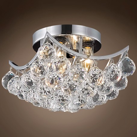 "4 & 6 Corner Design 4 Light 10"" Flush Mount"
