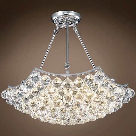 "4 & 6 Corner Design 10 Light 22"" Chandelier"