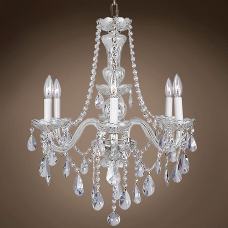 "Victorian Design 6 Light 20"" Chandelier"