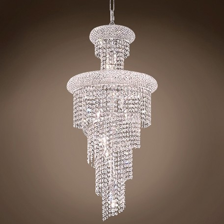 "Spiral Design 10 Light 16"" Chandelier"