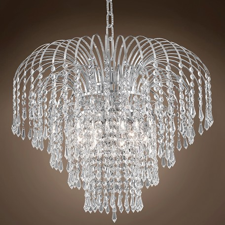 "Waterfall Design 6 Light 21"" Chandelier"