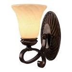 Cordoban Bronze Torbellino 1 Light Bathroom Wall Sconce - Golden 8106-BA1 CDB
