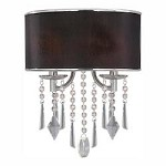 Chrome Two Light Wall Sconce From The Echelon Collection - Golden 8981-WSC GRM