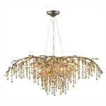 Mystic Gold Autumn Twilight 12 Light Crystal Chandelier - Golden 9903-12 MG
