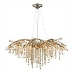 Mystic Gold Autumn Twilight 6 Light Crystal Chandelier - Golden 9903-6 MG