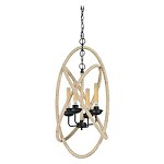 Pearce Collection 4 Light Chandelier In Matte Black - 133825