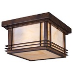 Two Light Hazelnut Bronze Outdoor Flush Mount - 135281