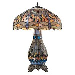 Dragonfly Collection 3 Light Table Lamp In Dark Bronze - ELK Lighting 72079-3