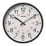 Magnus Bk -12In.Office Clock 12/24 - 159477