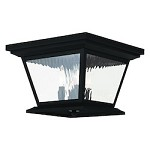 Black Hathaway 4 Light Outdoor Flush Mount Ceiling Fixture