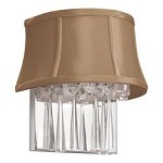 2LT Crystal Wall Sconce, Latte Shade - 164992