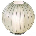 One Light Brushed Nickel Sheer Gold Ribbon Shade Table Lamp - Trend Lighting TT7900-W