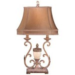 1 Light Table Lamp with Rust Finish - 217023