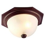 Two Light Architectural Bronze Outdoor Flush Mount - Acclaim Lighting 75ABZ