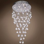9 Light Pendant Chandelier Light in Chrome Finish with Crystal and Murano Beads - 249542