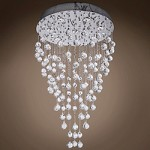 8 Light Pendant Chandelier Light in Chrome Finish with Crystal and Murano Beads - 249543