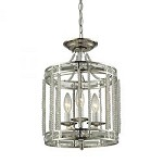 Aubree 3 Light Pendant In Polished Nickel - 287062