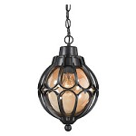Madagascar 1 Light Outdoor Pendant In Matte Black - 287389