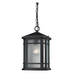 Lowell 1 Light Outdoor Pendant In Matte Black - 287394