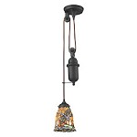 Tiffany pulldown 1 Light Pendant In Tiffany Bronze - 287433