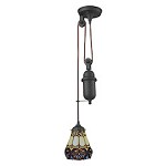 Tiffany pulldown 1 Light Pendant In Tiffany Bronze - 287437