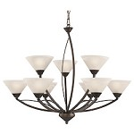 9 Light Chandelier In Oil Rubbed Bronze - 287456