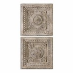 Uttermost Auronzo Aged Ivory Squares, S/2 - 297770