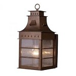 One Light Coffee Bronze Wall Lantern - 298526