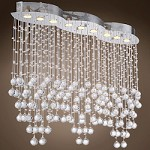 9 Light Pendant Chandelier Light in Chrome Finish with European Crystals  - 371556