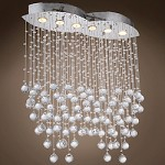 6 Light Pendant Chandelier Light in Chrome Finish with European Crystals - 371557