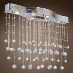 6 Light Pendant Chandelier Light in Chrome Finish with European Crystals - 371559