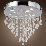 7 Light Flush Mount Light in Chrome Finish with Clear Murano Glass Balls - 371561