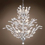 18 Light Crystal Chandelier Light in Chrome Finish with European Crystals - 371567