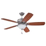 Antique Nickel Ceiling Fan with Light Kit - 372222